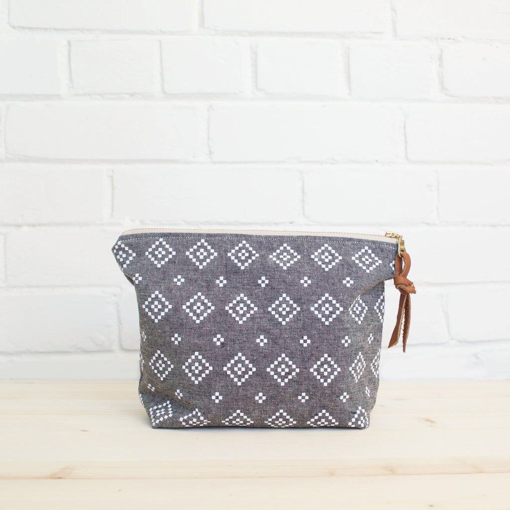 Large Folk Zipper Pouch