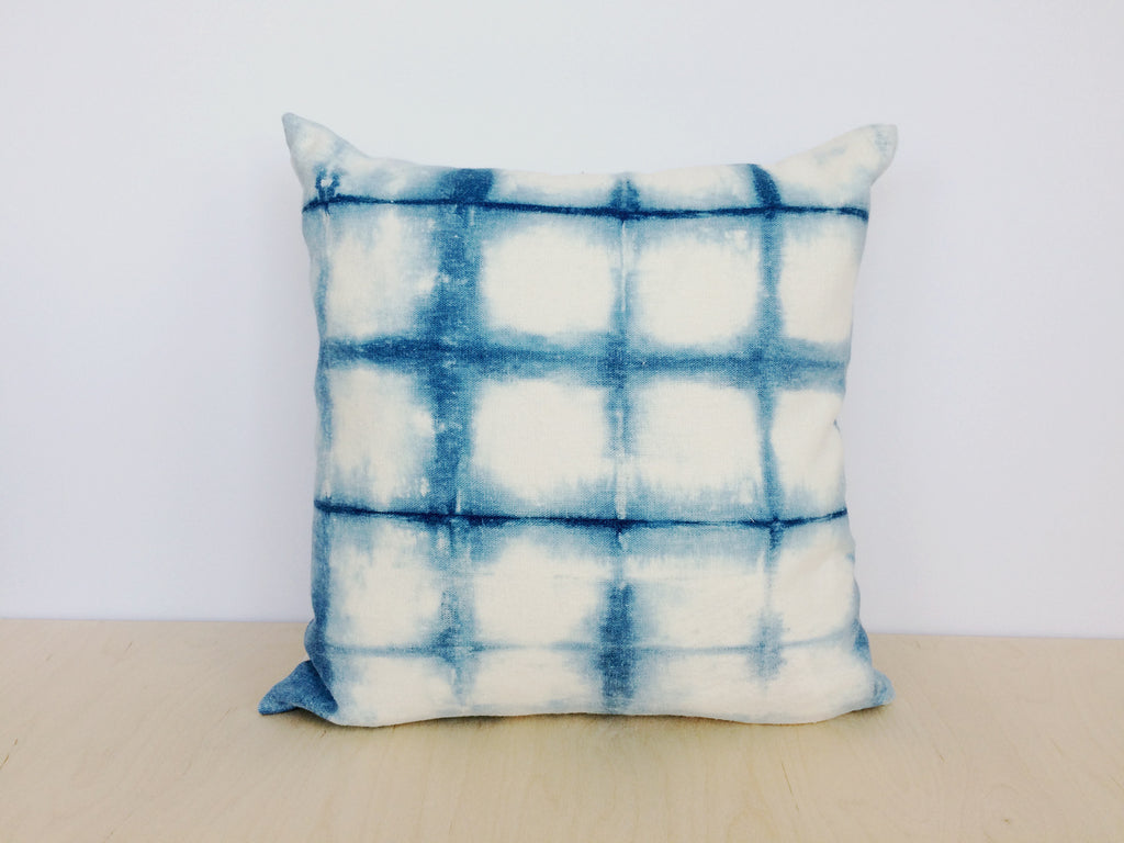 Grid Shibori Pillow