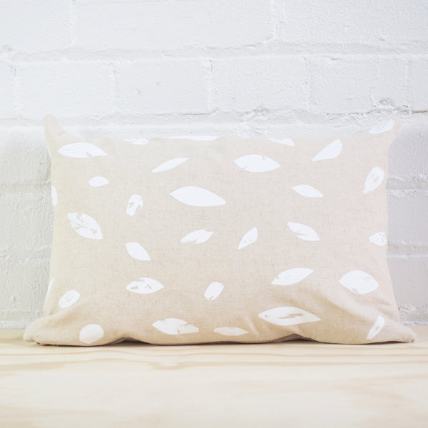 White Leaf Pillow