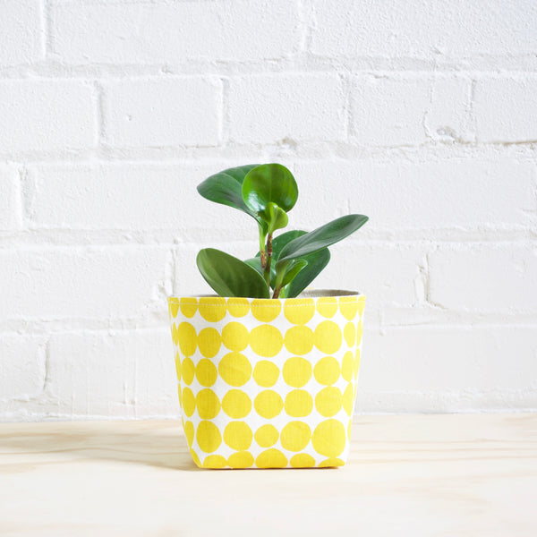 Dots Basket - Yellow