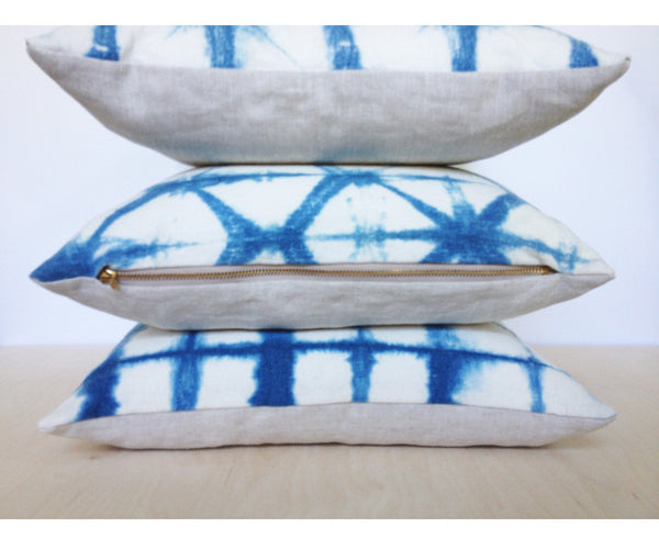 Triangles Shibori Pillow
