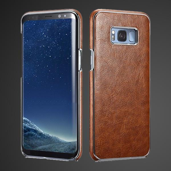S8 Plus Platinum Electroplating Cover Case - Brown