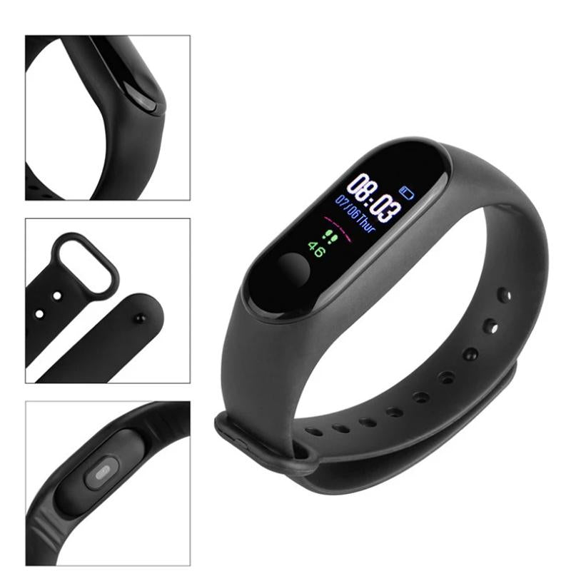 Smart Band M3 - (With Heart Rate/ BP/ Walk Count Monitor) - Call/ Message Feature (6 Months Warranty)
