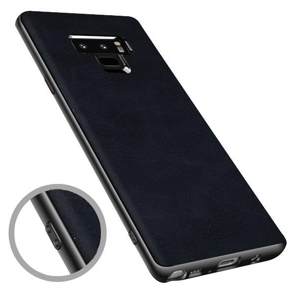 Buy 1 Get 1 FREE: Galaxy Note 9 Leather Rugged Case Plus Creative Shine Cover