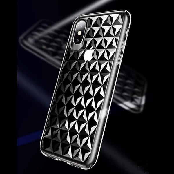 Diamond Cut Glass Case with Air Bags Protection For iPhone XS MAX