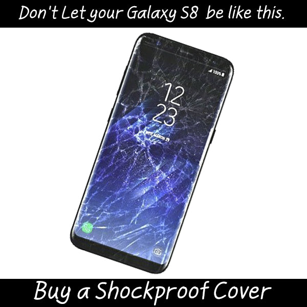 Galaxy S8 Shockproof Waterproof Case StudStar Black Thin 6.6ft Underwater IP68 Snow Proof