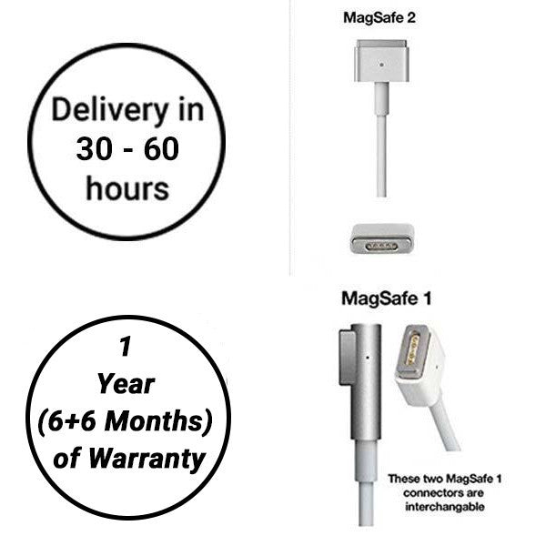 60W Magsafe 2 Apple Macbook Charger - Delivery in 30 - 60 Hours