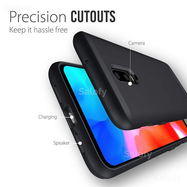 Buy 1 Get 1 FREE : One Plus 5T Rock Hard Case + Creative Case