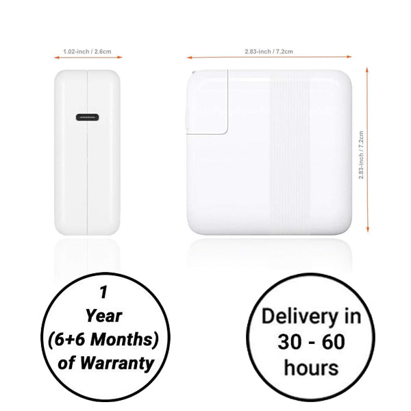 87w Magsafe Apple Macbook Charger - (A1706,A1707,A1708,A1718) Delivery in 30 - 60 Hours