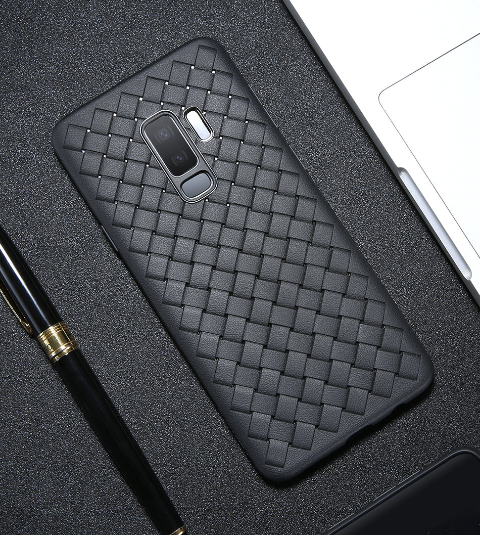 Galaxy S9 Woven Design Case- Black