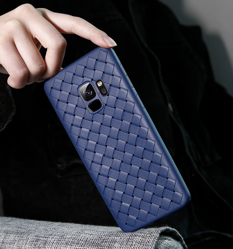 Galaxy S9 Plus Woven Design Case- Blue