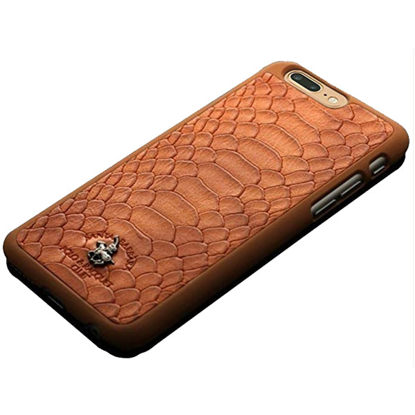 iPhone 7 Jockey PC Case Cover for Apple - Brown and flip