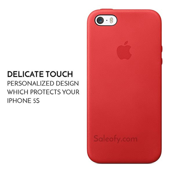 Red Aniline Case for Apple Iphone SE/5S/5