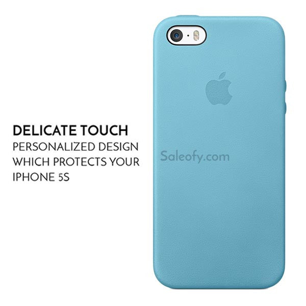 quality design 1358b b6010 Sea Blue Aniline Case for Apple Iphone SE/5S/5