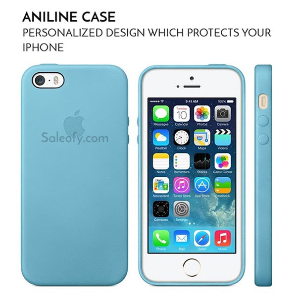Sea Blue Aniline Case for Apple Iphone SE/5S/5