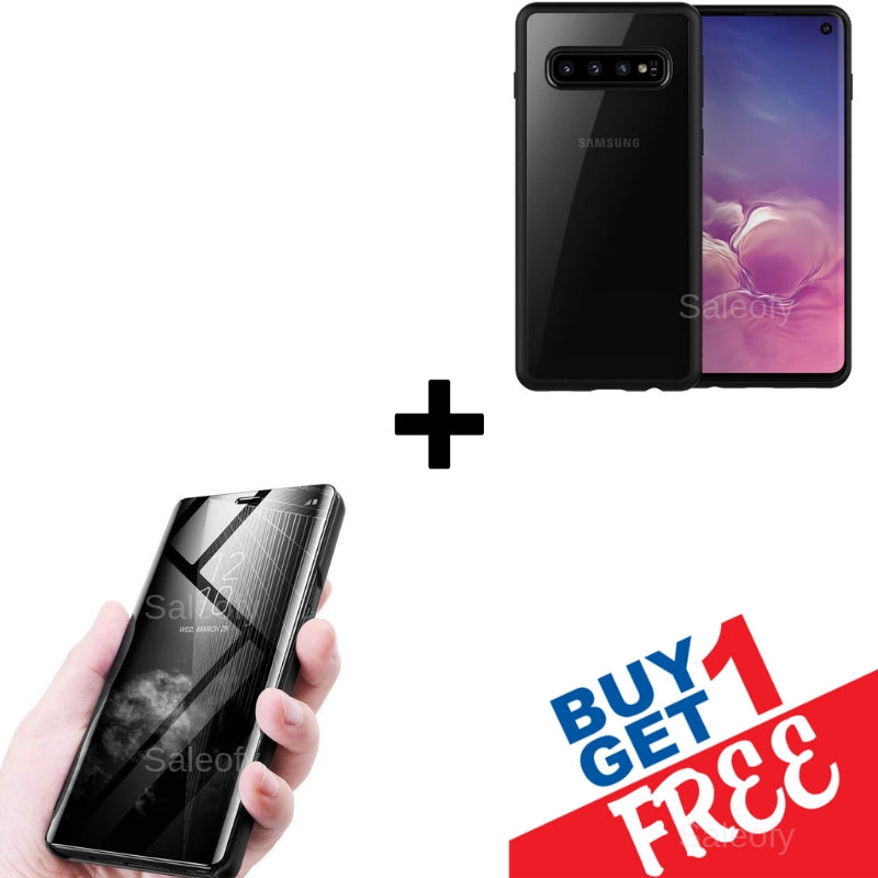 "<span class =""titlehead""> Buy 1 Get 1 FREE </span></br> Galaxy S10+ Mirror Shine + Creative Case <span class=""titlehead1""></br>Get 2 Different Cases for price of 1 </span>"