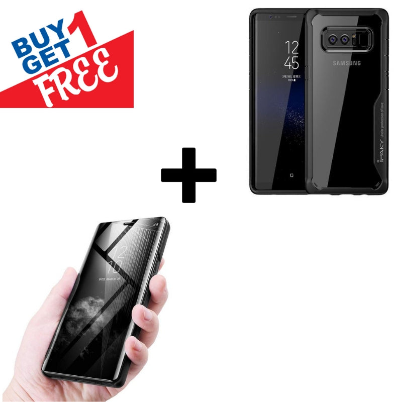 Buy 1 Get 1 FREE: Galaxy Note 8 Creative Case Plus Mirror Shine Cover