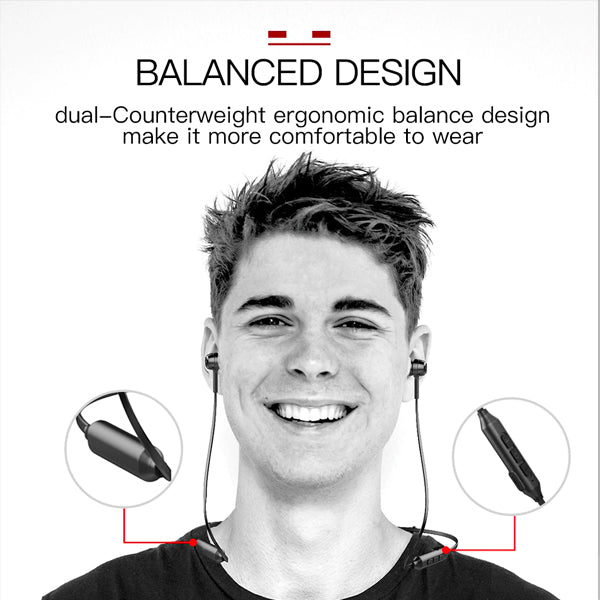 SLF-06 Magnetic Connection Wireless Bluetooth Earphone- With Calling Feature (3 Months Warranty)