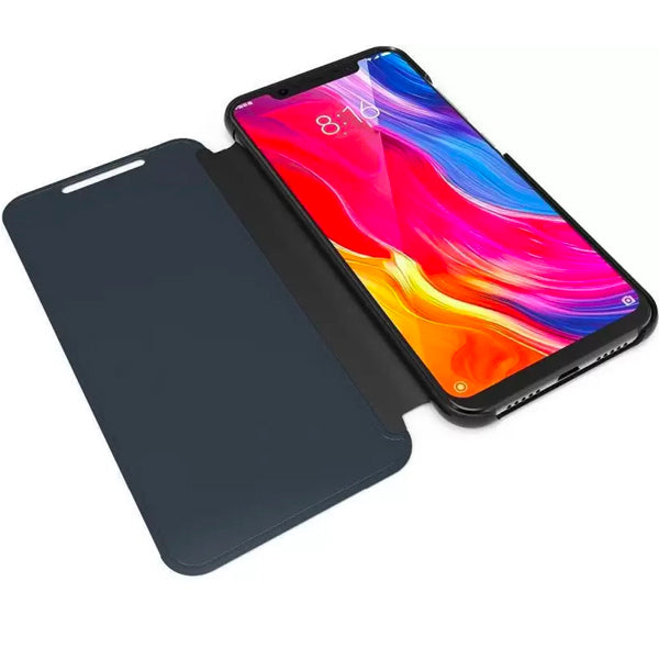 Vivo V11 Pro Mirror Shine Flip Case (Premium) - Black/ Blue