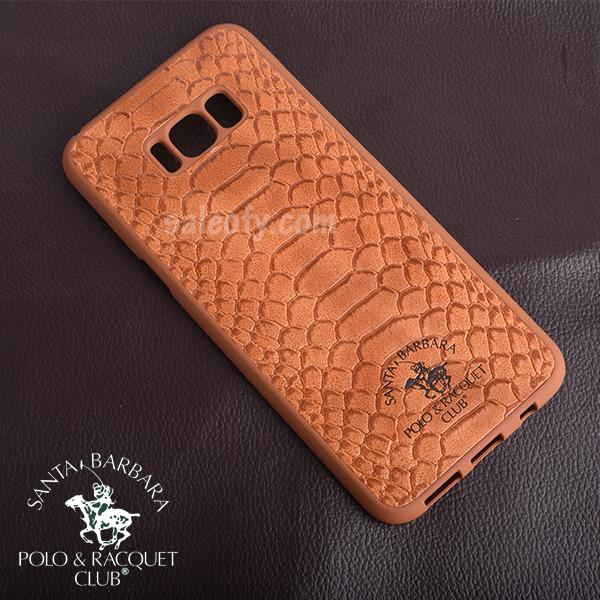 Brown Crocodile Cover Case for Samsung Galaxy S8 Plus