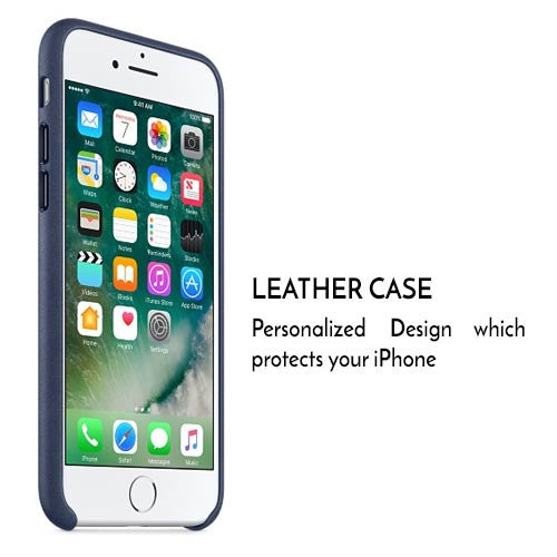 "iPhone 8 PU Cover Case for Apple - Blue [4.7""]"