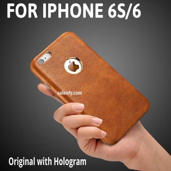 "iPhone 6s/6 Brown Cover with Metallic Logo Display Case for Apple [4.7""]"