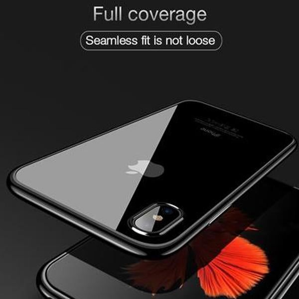 iPhone XS/X Luxury Fashion Transparent TPU Soft Plated Mobile Cover Case