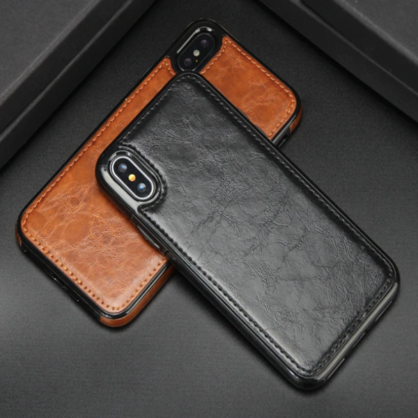 Apple iPhone X/XS Premium Case - Black/ Brown