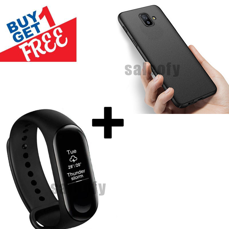 Buy 1 Get 1 FREE: Smart Band (With Heart Rate Monitor) Plus Creative Case For Galaxy J6 Plus
