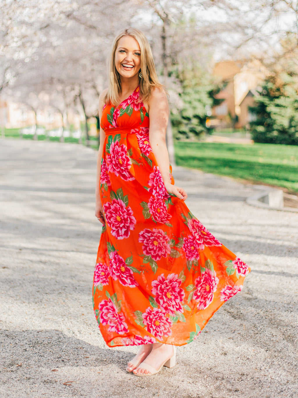 Island Romance Maxi Dress in Orange