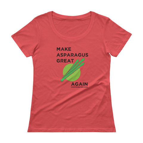 Make Asparagus Great Again - Ladies' Scoopneck T-Shirt