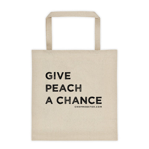 Give Peach A Chance - Tote bag