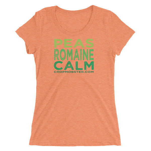 Peas Romaine Calm  - Ladies' short sleeve scoopneck t-shirt