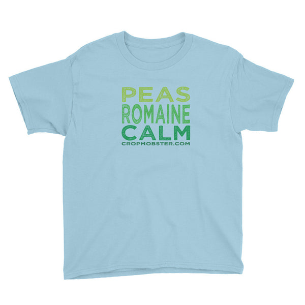 Peas Romaine Calm - Youth Short Sleeve T-Shirt