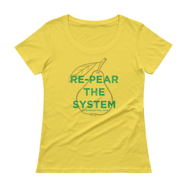 Re-Pear the System - Ladies' Scoopneck T-Shirt