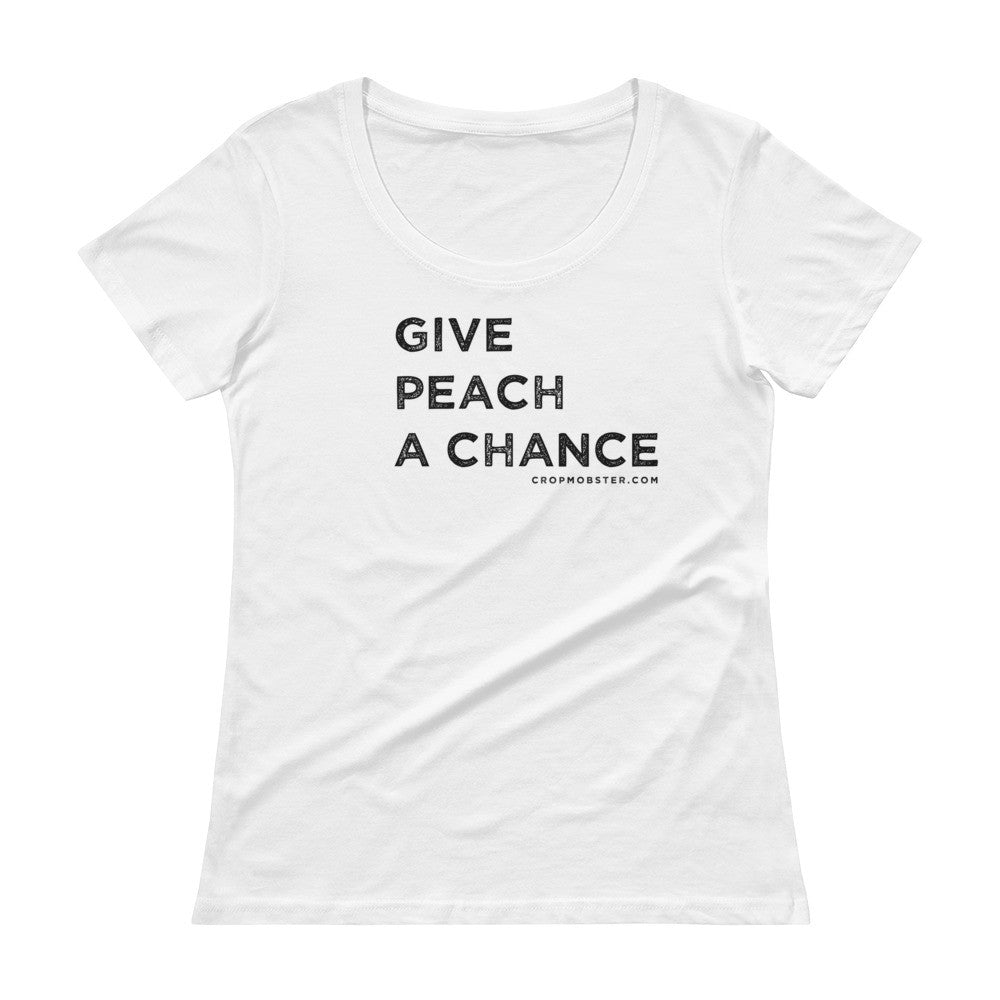 Give Peach a Chance - Ladies' Scoopneck T-Shirt