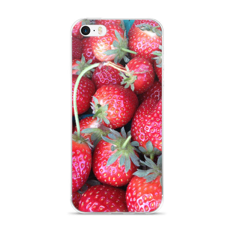 Strawberry - iPhone 5/5s/Se, 6/6s, 6/6s Plus Case