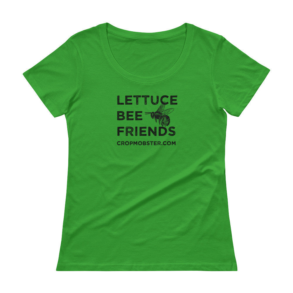 Lettuce Bee Friends - Ladies' Scoopneck T-Shirt