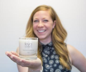 Chief Candle Lady Sarah Spitsen began the company in her home, selling to friends and at the farmer's market, eventually moving into a brick and mortar store in 2010. Retail was great but she knew there was something more... Lucky enough to be raised by strong women, Sarah named Feya after two of those amazing influences and decided to create a company that lives like they lived: by giving back to others and making the world a better place.