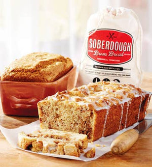 Pour - Stir - Bake -- Just add beer to make the best bread ever! The sweet apple flavor throughout mixed with cinnamon and brown sugar is delectable. This one is a serious bread for every foodie's desire. - 100% all natural ingredients. - Dairy-free and soy-free. - Made in a nut-free facility.