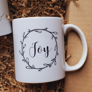 Each coffee mug features delicate and beautiful lettering printed on both sides with the additional AWESOME qualities!