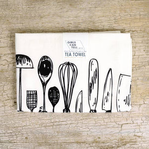 Utensils Tea Towel by Girls Can Tell