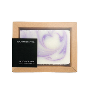 Benjamin Soap Co. Lavender Shea Artisan Soap 4 oz.