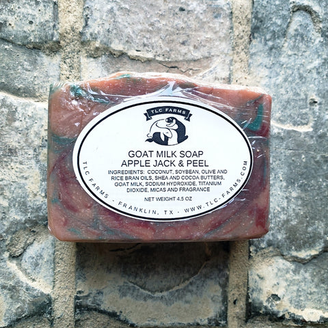 TLC Farms Apple Jack and Peel Goat Milk Soap