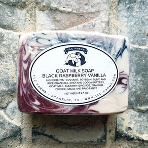 TLC Farms Black Raspberry Vanilla Goat Milk Soap - Cool Beans Box