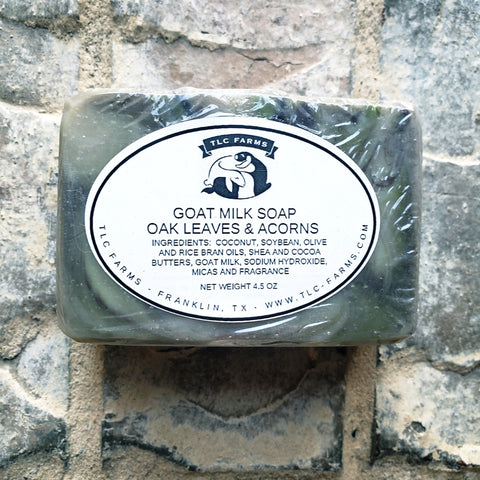TLC Farms Oak Leaves and Acorns Goat Milk Soap