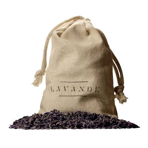 This absolutely lovely Lavender Bud Sachet by Lavande Farm is a simple little indulgence which packs quite the beneficial punch.  Lavender buds gathered into simple muslin sachet bags can be used to freshen any contained space, such as dresser drawers, hung on clothing hangers, or in your car. pack one of these in while storing winter clothes to keep moths from feasting on your fibers.