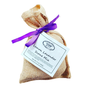 This delicious Lemon Lavender Scone Mix by Texas Maker Chappell Hill Lavender Farm makes baking time in the kitchen quick and easy. Great served with tea and roasted coffee!
