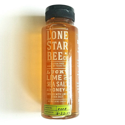Lone Star Bee Co. Lucky Lime and Sea Salt Honey
