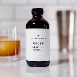 This delicious Sir Winston's Spiced Simple Syrup by Statesman Beverage Co. is produced in small batches using organic sugar and organic spices. The flavors of this complex simple syrup evoke holiday warmth.